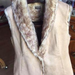 Crosby Suede Faux Fur Vest